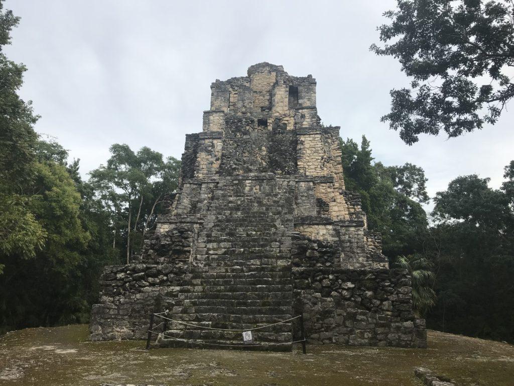 The Main Pyramid at Muyil Ruins