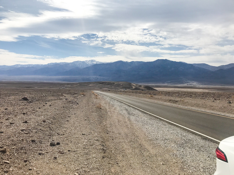 Driving through Death Valley - on Artists Drive