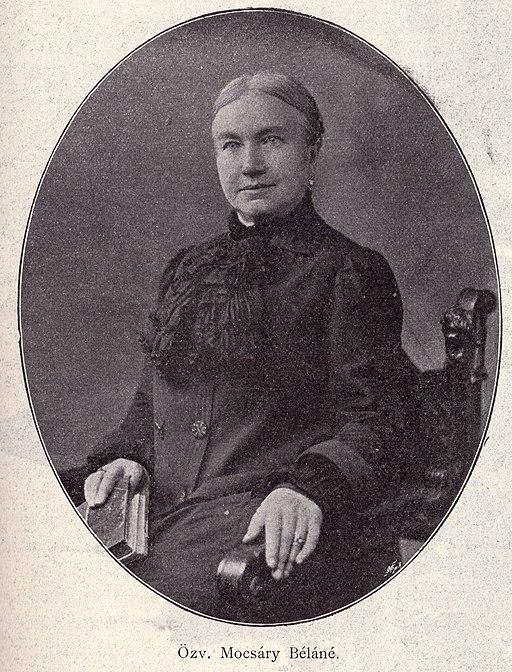 Portrait of Mária Fáy, Mrs Mocsáry Béla. public domain image from Wikimedia Commons.